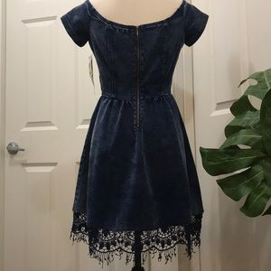 XOXO Dresses - XOXO DENIM DRESS